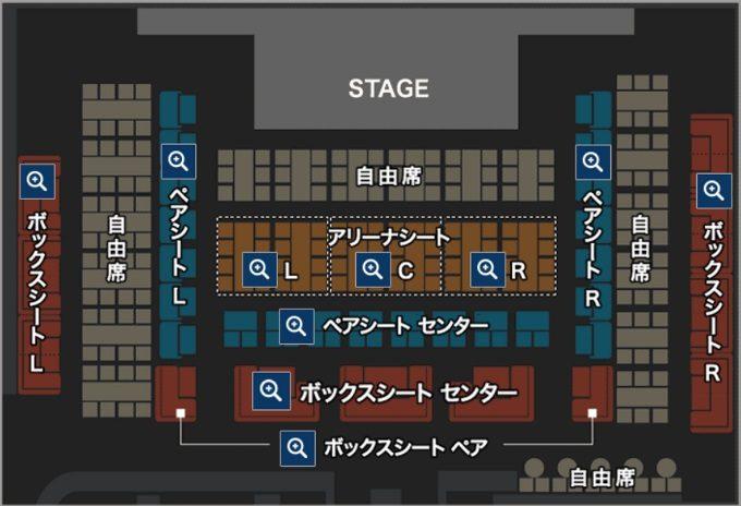 ブルーノート東京の座席表