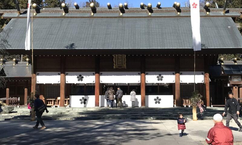 拝殿前の石畳